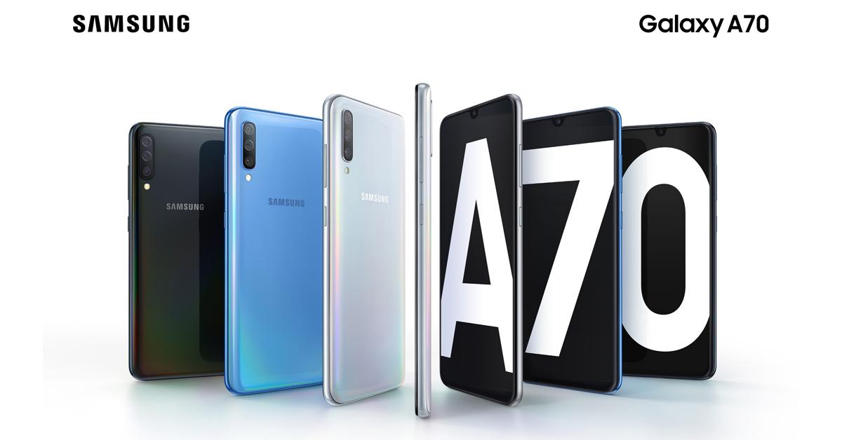 Samsung Galaxy A70 เปิดราคาที่ 15,990 บาท จอง 26 เม.ษ. – 5 พ.ค. 2562