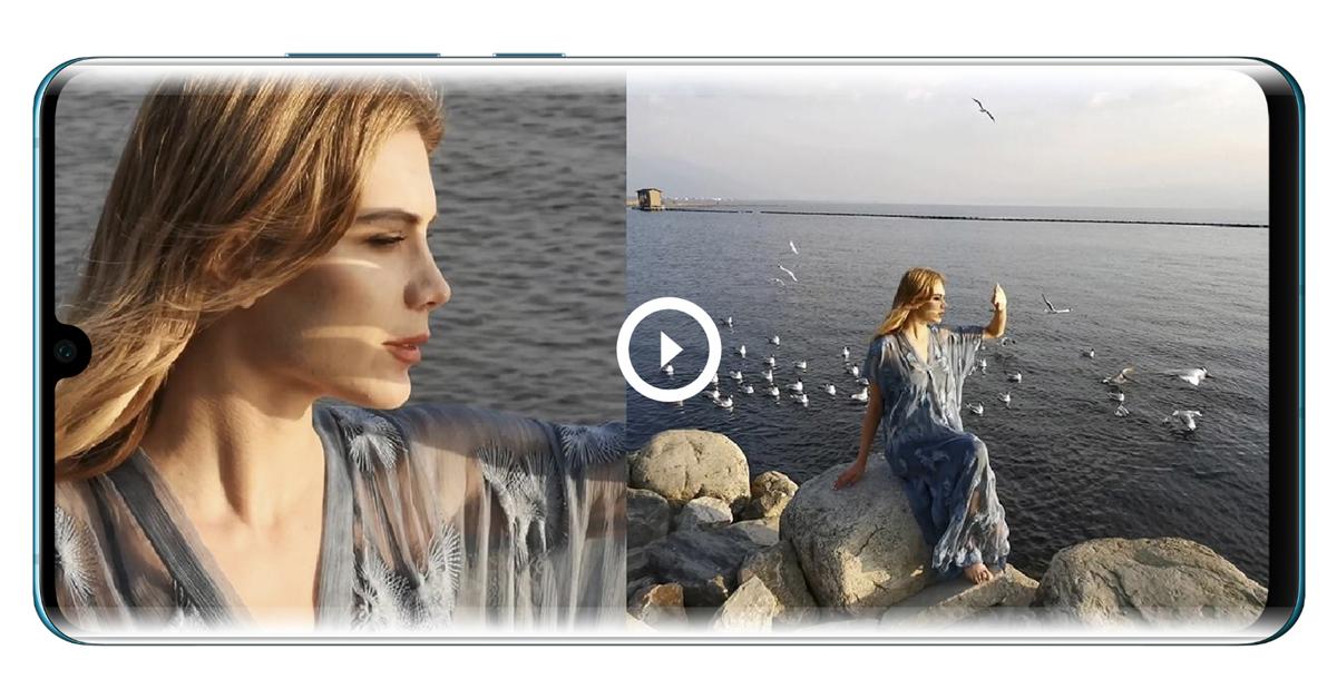 Huawei P30 และ P30 Pro ได้อัพเดต Dual-view video ถ่ายวีดีโอได้ 2 เลนส์