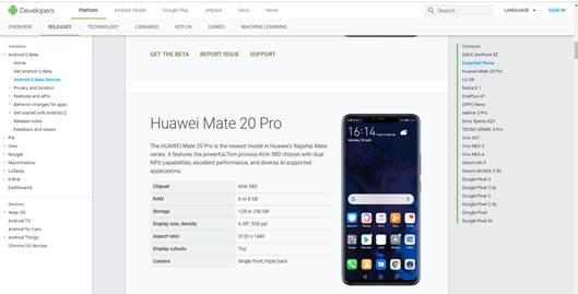 Huawei เฮ ! Google เพิ่ม Mate20 Pro กลับเข้าโครงการทดสอบ Android Q Beta