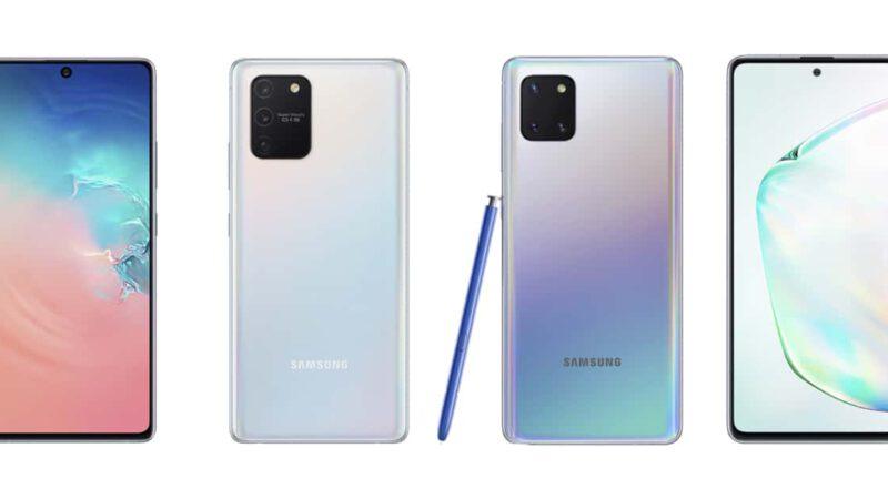 Samsung Galaxy S10 Lite และ Galaxy Note10 Lite เปิดตัว ใช้โมดูลกล้องใหม่