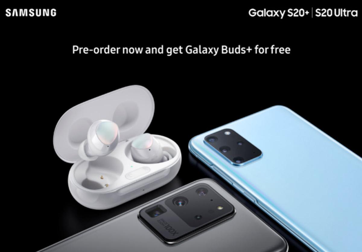 ภาพหลุด Samsung Galaxy S20+ และ S20 Ultra แถมหูฟัง Galaxy Buds+ ด้วย