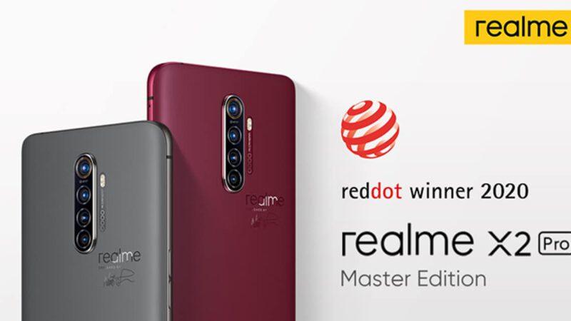 realme X2 Pro Master Edition คว้ารางวัลการออกแบบจากเวทีระดับโลก Red Dot Design Award