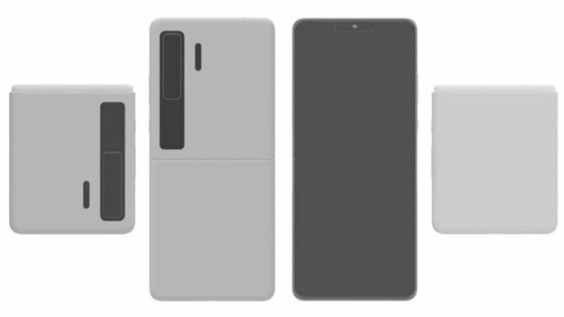 หลุดภาพ mock up สมาร์ทโฟนพับได้ Huawei Mate V สไตล์กระเป๋าสตางค์