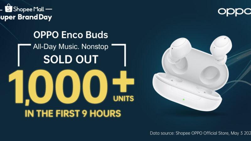 กระแสตอบรับล้นหลาม! OPPO Enco Buds หูฟังไร้สายน้องเล็กรุ่นล่าสุด ยอดจองกว่า 1,000 ชิ้น เพียง 9 ชั่วโมงแรก
