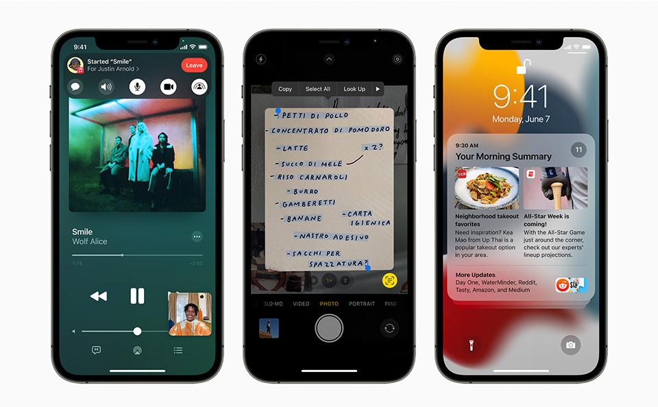 iOS 15 รุ่นที่รองรับ