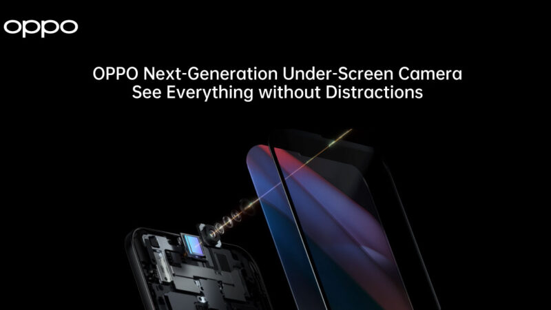 OPPO เปิดตัวเทคโนโลยี Under-Screen Camera รุ่นใหม่ พร้อมเพลิดเพลินไปกับประสบการณ์แบบเต็มจอ