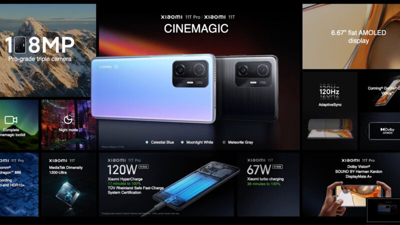 สรุปราคาไทย Xiaomi 11T Pro, 11T, 11 Lite 5G NE และแท็บเล็ต Xiaomi Pad 5