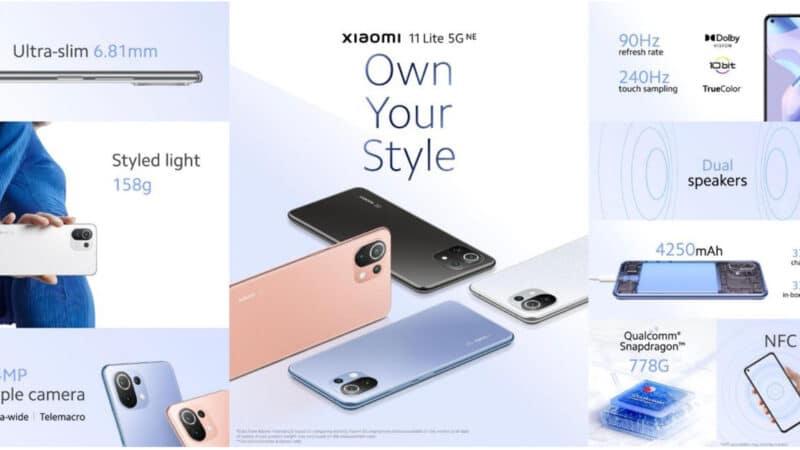 Xiaomi 11 Lite 5G NE จัดโปรโมชั่นพิเศษพร้อมกิจกรรมสุดเอ็กซ์คลูซีฟ ในราคาเริ่มต้นเพียง 10,990 บาท!